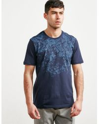 Pal Zileri - Mens Ariel Map Short Sleeve T-shirt Navy Blue - Lyst