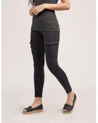 True Religion - Womens Cargo Trousers Black - Lyst
