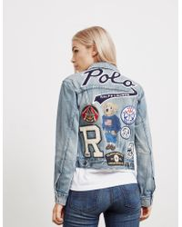 Polo Ralph Lauren - Womens Bear Trucker Denim Jacket - Online Exclusive Blue - Lyst