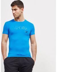 Emporio Armani - Mens Gel Print Short Sleeve T-shirt Royal Blue/royal Blue - Lyst