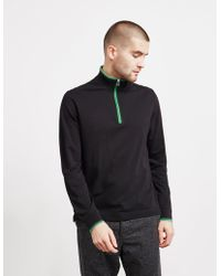 PS by Paul Smith - Tipped Half Zip Sweatshirt - Online Exclusive Navy Blue - Lyst