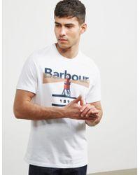 Barbour - Mens Beacon 94 Short Sleeve T-shirt White - Lyst