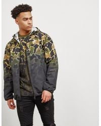 adidas Originals - Mens Camo Lightweight Windbreaker Green/camo - Lyst