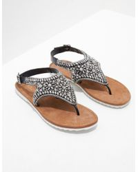 Ilse Jacobsen - Sparkle Jewel Sandals Black - Lyst