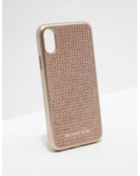 Michael Kors - Womens Iphone X Phone Cover - Online Exclusive Rose Gold - Lyst