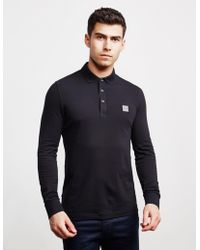 d164f85b BOSS Boss Passerby Long Sleeve Polo Shirt in Blue for Men - Lyst