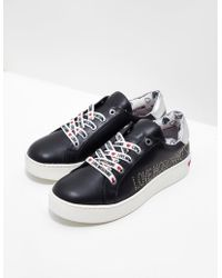 Love Moschino - Diamante Trainers Black - Lyst