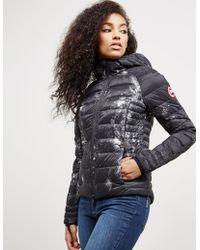 Canada Goose - Womens Brookvale Hooded Padded Jacket - Online Exclusive Black/black - Lyst