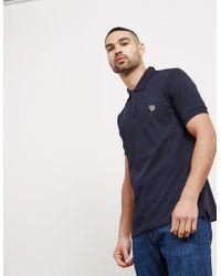 PS by Paul Smith - Mens Zebra Short Sleeve Polo Shirt Navy Blue - Lyst