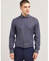 HUGO - Mens Jason Long Sleeve Shirt Navy - Lyst