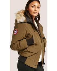 Canada Goose - Womens Chilliwack Padded Bomber Jacket Green - Lyst