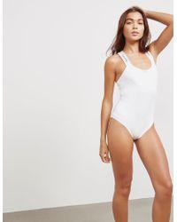 Calvin Klein - Bodysuit White - Lyst