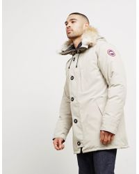 Canada Goose - Mens Chateau Padded Parka Jacket Cream - Lyst