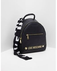 Love Moschino - Womens Scarf Backpack Black - Lyst