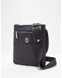 a91313f7ebce Lyst - Versace Jeans Mens Linea Logo Small Item Bag Black in Black ...