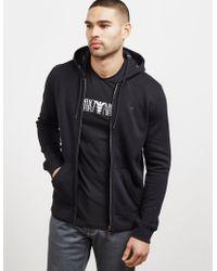 Emporio Armani - Mens Full Zip Hoodie Black - Lyst