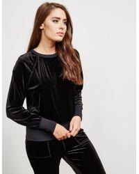Rag & Bone - Womens Velvet Sweatshirt Black - Lyst