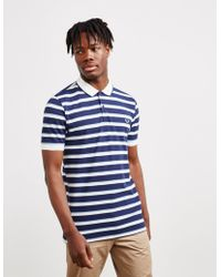 45799a963 Fred Perry - Stripe Pique Short Sleeve Polo Shirt Navy Blue - Lyst