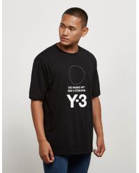 Y-3 - Mens Stacked Short Sleeve T-shirt Black - Lyst