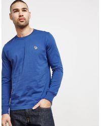 PS by Paul Smith - Mens Zebra Long Sleeve T-shirt Blue - Lyst