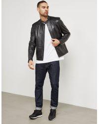 HUGO - Lank Leather Jacket - Online Exclusive Black - Lyst