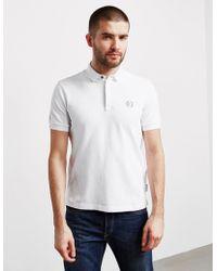 Armani Exchange - Mens Nylon Collar Short Sleeve Polo Shirt White - Lyst