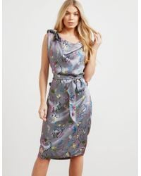 Vivienne Westwood - Womens Anglomania Shore Print Dress Grey - Lyst