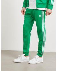 adidas Originals - Mens Superstar Track Trousers Green - Lyst