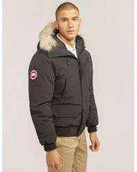 Canada Goose - Mens Chilliwack Padded Bomber Jacket Navy Blue - Lyst
