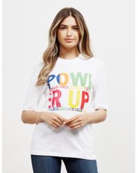4b221858 Tommy Hilfiger Womens Star Script Short Sleeve T-shirt White in ...