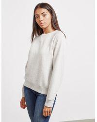 Polo Ralph Lauren - Womens Crew Sweatshirt Grey - Lyst