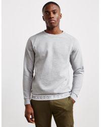 BOSS - Mens Ottoman Crew Sweatshirt Grey - Lyst