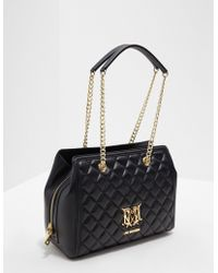 Love Moschino - Womens Quilted Tote Bag - Online Exclusive Black - Lyst