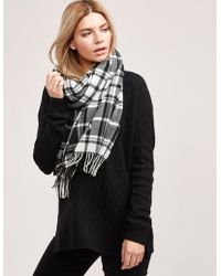 Polo Ralph Lauren | Womens Check Scarf Black | Lyst