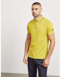 Barbour - Mens International Essential Short Sleeve Polo Shirt Yellow - Lyst