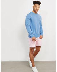 Polo Ralph Lauren - Mens Terry Crew Neck Sweatshirt Blue - Lyst