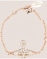 Vivienne Westwood - Womens Mayfair Bass Relief Bracelet Rose Gold/rose Gold - Lyst