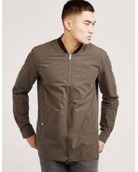 HUGO - Mens Zip Overshirt - Online Exclusive Green - Lyst