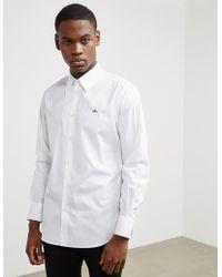 Vivienne Westwood   Mens Long Sleeve Poplin Shirt White   Lyst