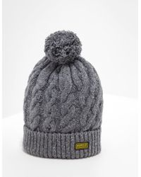 Barbour - Mens International Bobble Hat - Exclusive - Exclusively To Tessuti Grey - Lyst