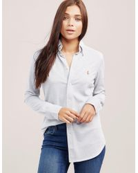 Polo Ralph Lauren - Womens Heidi Shirt Grey - Lyst