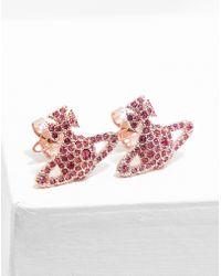 Vivienne Westwood | Womens Grace Stud Earrings Pink | Lyst