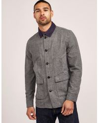 Barbour - Mens Earmont Long Sleeve Overshirt Grey - Lyst