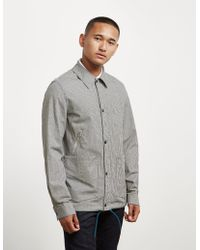 PS by Paul Smith - Gingham Coach Jacket - Online Exclusive Black - Lyst