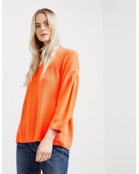 BOSS - Womens Westona Sweatshirt Orange - Lyst
