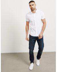 Emporio Armani - Mens Basic Poplin Short Sleeve Shirt White - Lyst