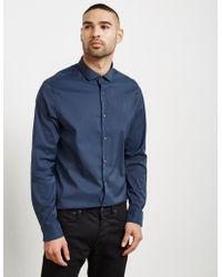 Michael Kors - Mens Stretch Long Sleeve Shirt Navy Blue - Lyst