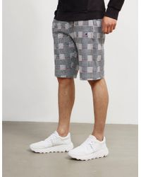 Champion - Mens Aop Check Shorts Grey - Lyst