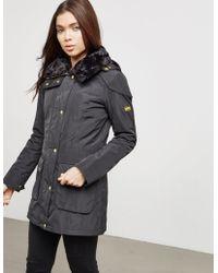Barbour - Womens International Garrison Padded Jacket Black/black - Lyst