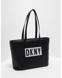 DKNY - Tilly E/w Tote Black/white - Lyst